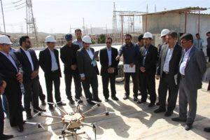 آئین تحویل مولتی روتور هدهد ۳ و محمولهی اپتیکی دیدهبان ۱ به شرکت برق منطقهای فارس